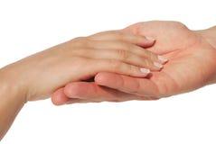 Mãos da pessoa Imagens de Stock