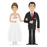 Mãos da posse do noivo e da noiva Imagem de Stock Royalty Free