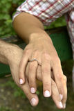 Mãos da terra arrendada Imagem de Stock Royalty Free