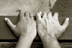 Mãos da terra arrendada Fotografia de Stock Royalty Free