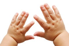 Mãos das crianças Fotografia de Stock