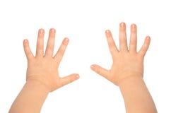 Mãos das crianças Fotos de Stock