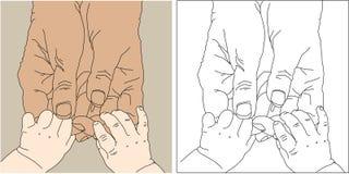 Mãos das crianças ilustração do vetor