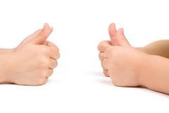 Mãos das crianças imagens de stock royalty free