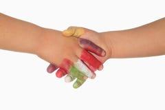 Mãos das crianças Foto de Stock Royalty Free