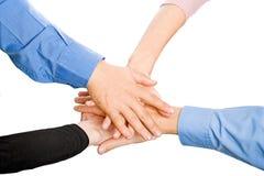 Mãos das equipes Imagens de Stock Royalty Free