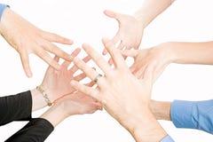 Mãos das equipes Imagem de Stock
