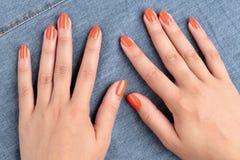 Mãos das mulheres Foto de Stock