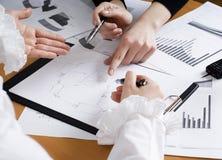 Mãos das mulheres de negócio Imagem de Stock