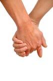 Mãos de duas gerações Imagens de Stock Royalty Free