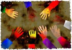 Mãos de Grunge ilustração do vetor