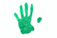 Mãos de Handprint em um fundo branco Fotografia de Stock