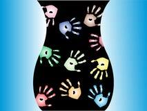 Mãos de incandescência Imagem de Stock
