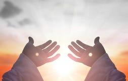 Mãos de Jesus Christ imagem de stock royalty free