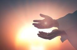 Mãos de Jesus Christ imagem de stock