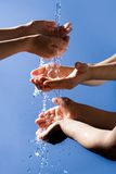 Mãos de lavagem imagem de stock royalty free