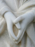 Mãos de mármore Praying Fotos de Stock