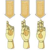 Mãos de madeira 3 Ilustração Stock