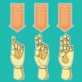 Mãos de madeira 4 Ilustração do Vetor