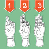 Mãos de madeira 3 Ilustração Royalty Free