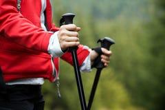 Mãos de passeio do Nordic Fotografia de Stock Royalty Free