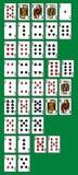Mãos de Rankinng do pôquer Imagens de Stock
