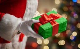 Mãos de Santa Claus Imagem de Stock