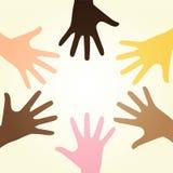 Mãos diversas raciais ilustração royalty free