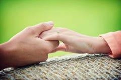 Mãos do amor Imagens de Stock