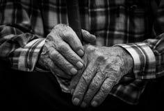 Mãos do ancião Imagem de Stock