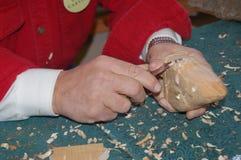 Mãos do carpinteiro Foto de Stock