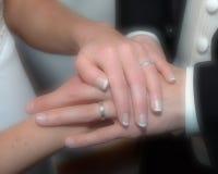 Mãos do casamento Imagens de Stock Royalty Free