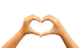Mãos do coração Fotografia de Stock