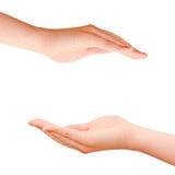 Mãos do cuidado da proteção Fotografia de Stock