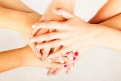 4 mãos do ` das senhoras Imagens de Stock Royalty Free