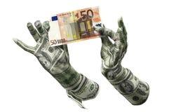 Mãos do dinheiro Fotografia de Stock Royalty Free