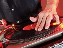 Mãos do DJ. Imagem de Stock Royalty Free