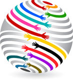 Mãos do globo ilustração royalty free