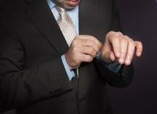 Mãos do homem Fotos de Stock Royalty Free