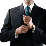 Mãos do homem de negócios Imagens de Stock