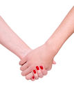 Mãos do homem e da mulher Imagem de Stock