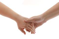 Mãos do homem e da mulher fotos de stock royalty free