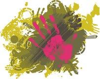 Mãos do Imprint ilustração royalty free