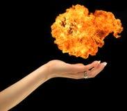 Mãos do incêndio imagens de stock royalty free