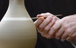 Mãos do oleiro Foto de Stock Royalty Free