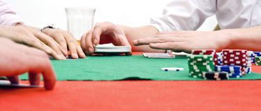 Mãos do póquer Fotos de Stock