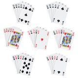 Mãos do póquer Imagem de Stock