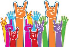 Mãos do partido Fotos de Stock Royalty Free