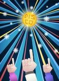 Mãos do partido da noite do disco ilustração stock