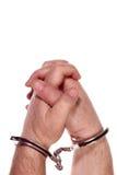 Mãos do prisioneiro foto de stock